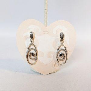 Brighton Rock & Scroll Earrings New on Card